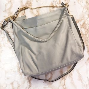Wilsons leather gray genuine leather purse hobo